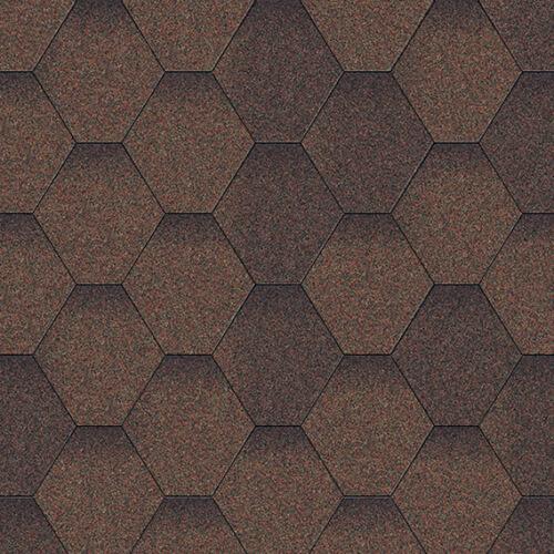 битумная черепица Акваизол мозайка коричневый микс